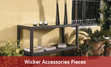 Outdoor Wicker Accessories